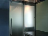 Translucent Sliding Door to Bathroom