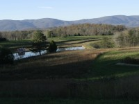 Sculpted Land and Distant Blue Ridge Mountains